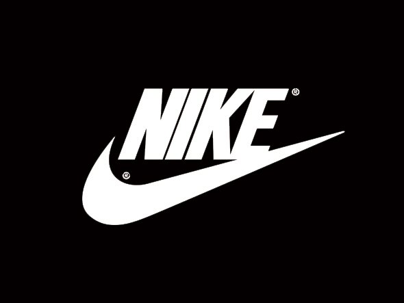 Nike logo black and white