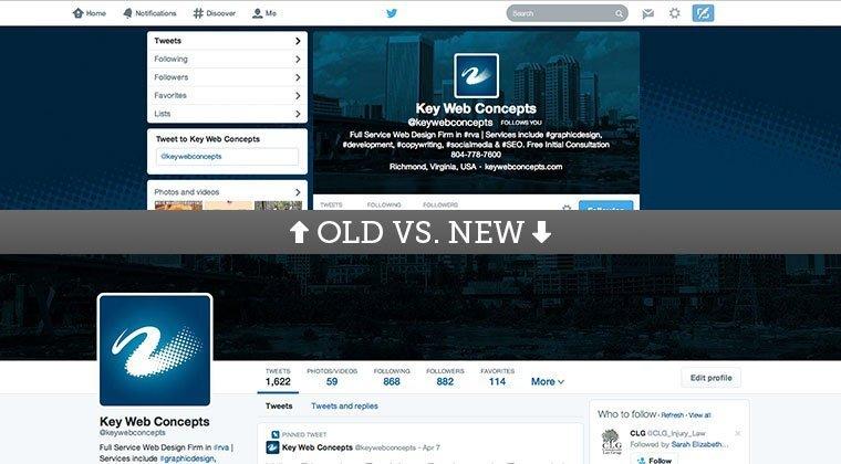 Old vs. New Twitter Design