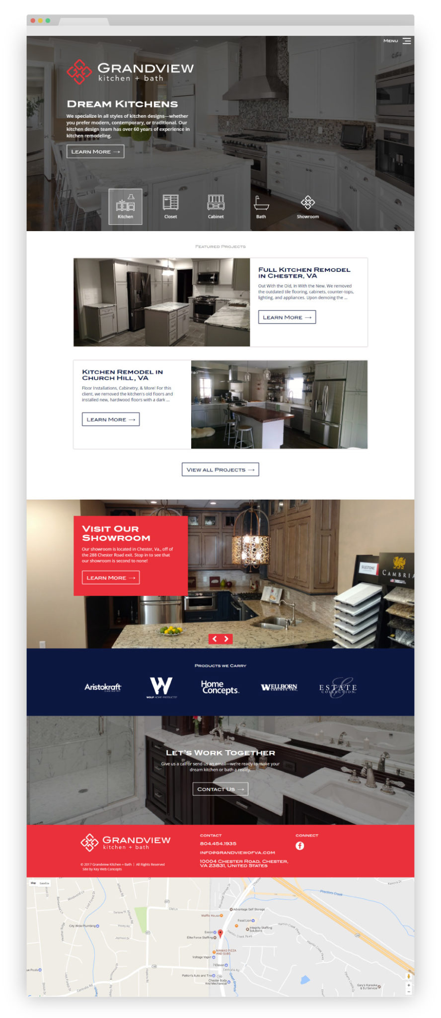 kitchen web design. As a new company  they also needed branding assistance in addition to web design webdesign grandview kitchen Website Design Case Study Grandview Kitch Bath Key Web Concepts