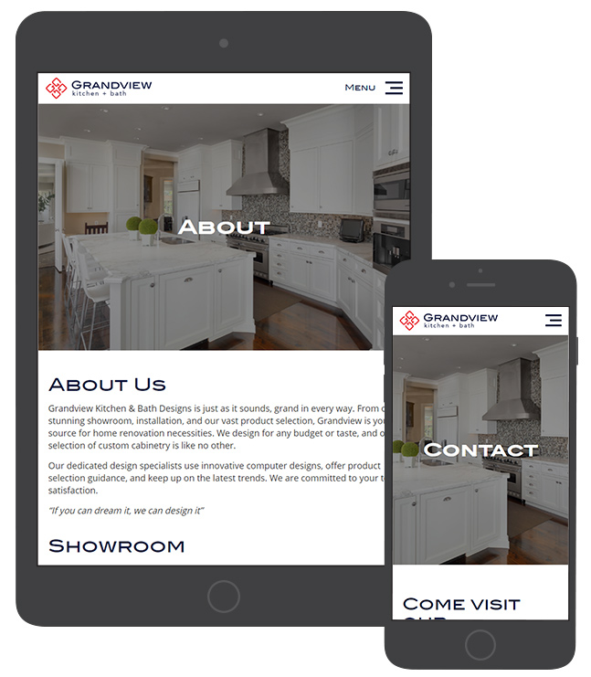 As A New Company, They Also Needed Branding Assistance In Addition To Web  Design. Webdesign Grandview Kitchen Part 90