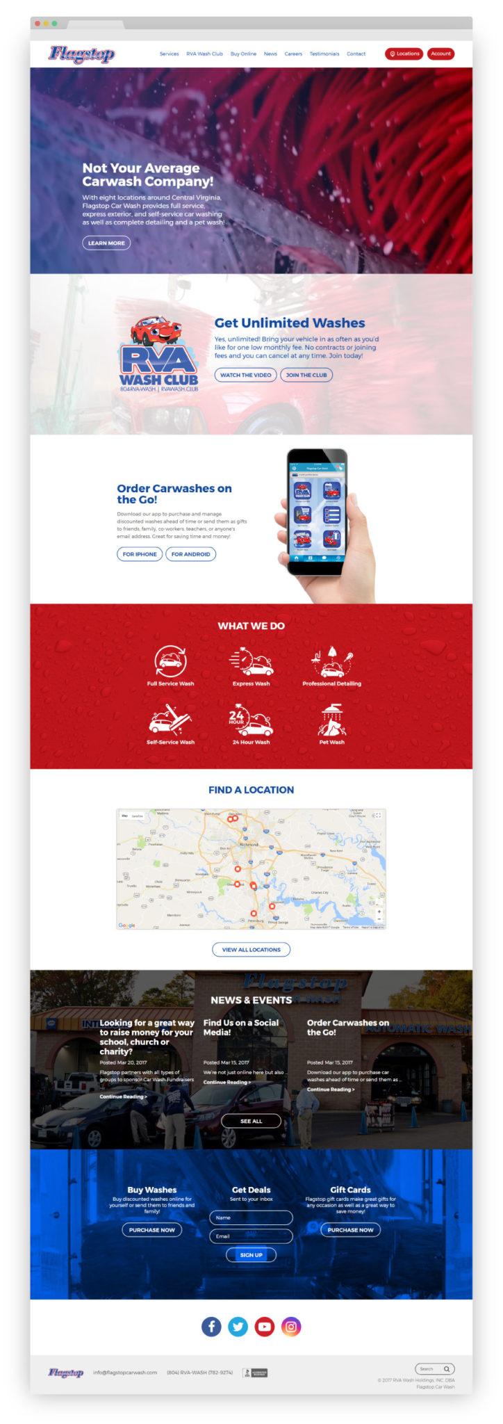 flagstop website, web design richmond va