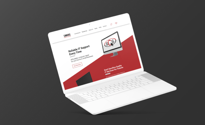 laptop it support website design richmond va mockup