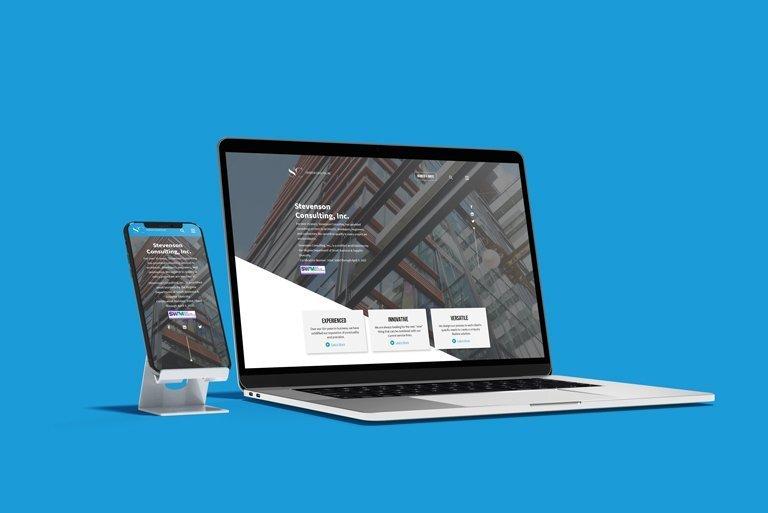 Responsive web design for Stevenson Consulting in Richmond, VA