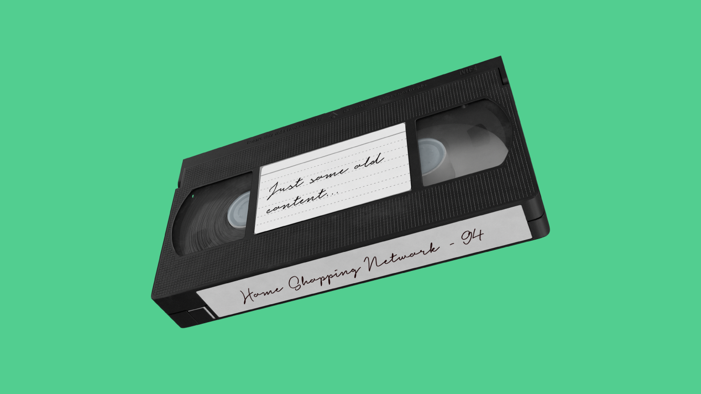 home vhs tape recording symbolizing website content